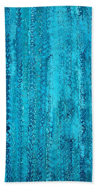 Some Call It Rain Original Painting Beach Towel