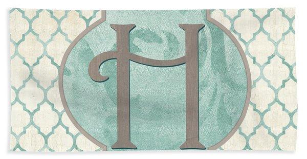 Spa Monogram Beach Towel