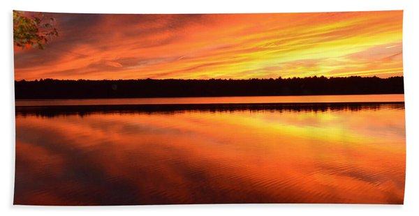 Spectacular Orange Mirror Beach Towel