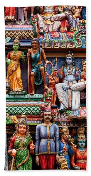 Sri Mariamman Temple 03 Beach Towel