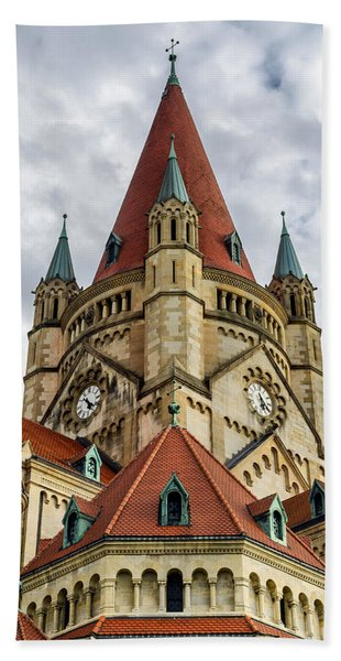 St. Francis Of Assisi Church In Vienna Beach Towel