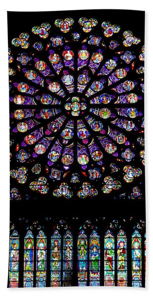 Stained Glass At Notre Dame Beach Towel