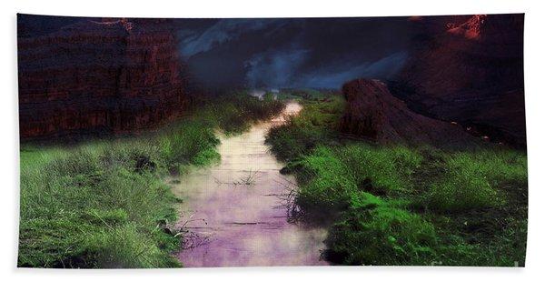 Beach Towel featuring the photograph Steamy Creek by Gunter Nezhoda