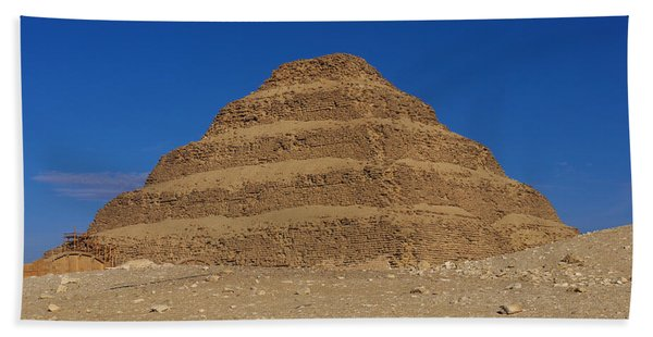 Step Pyramid Of King Djoser At Saqqara  Beach Towel