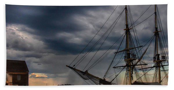Beach Towel featuring the photograph Storm Passing Salem by Jeff Folger