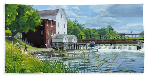 Summertime At The Old Mill Beach Towel