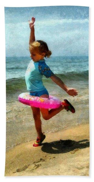 Summertime Girl Beach Towel