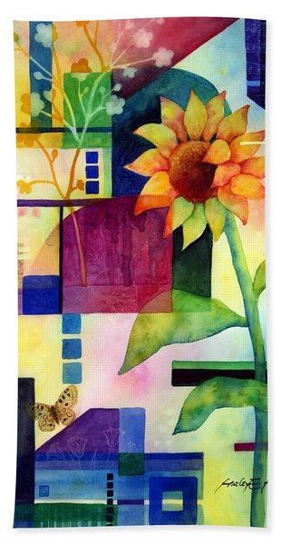 Sunflower Collage 2 Beach Towel