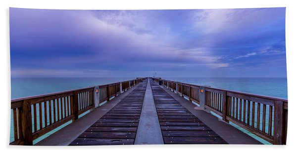 Sunrise At The Panama City Beach Pier Beach Towel