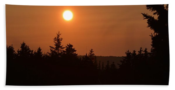 Sunset At Owl's Head Beach Towel
