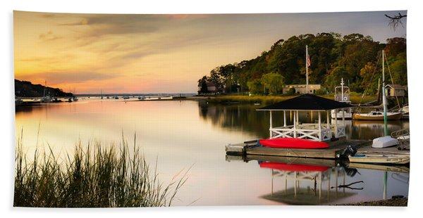 Sunset In Centerport Beach Sheet