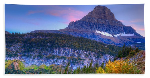 Sunset On Reynolds Mountain Beach Towel