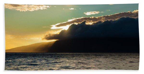 Sunset Over Lanai   Beach Towel