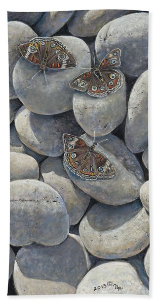 Sunshine And Butterflies Beach Towel