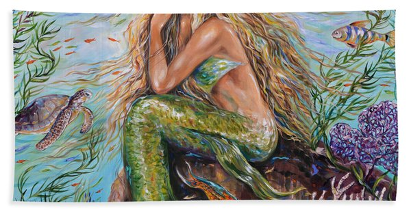 Sunshine Mermaid Square Beach Towel