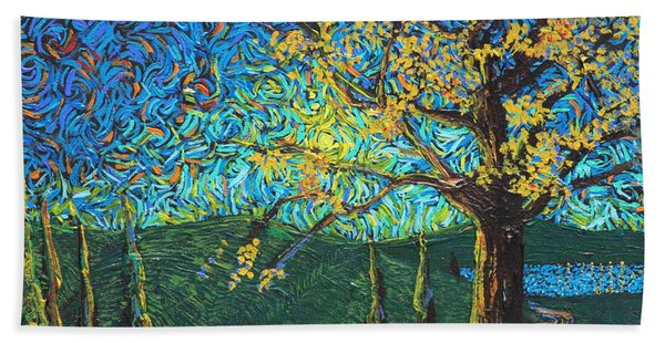 Swing By The Road Beach Towel
