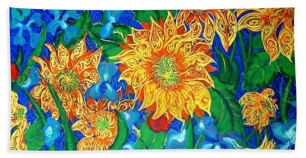 Symphony Of Sunflowers Beach Towel