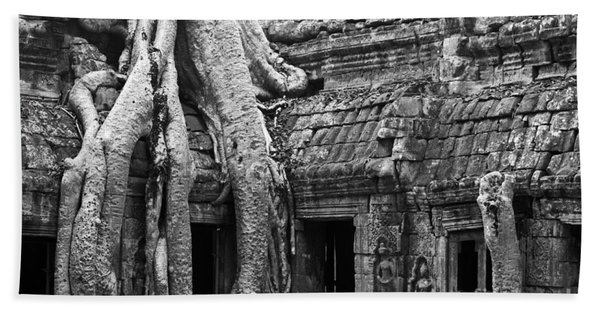 Ta Prohm Roots And Stone 01 Beach Towel