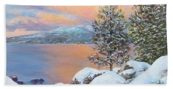 Tahoe Winter Colors Beach Towel