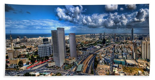 Tel Aviv Center Skyline Beach Sheet