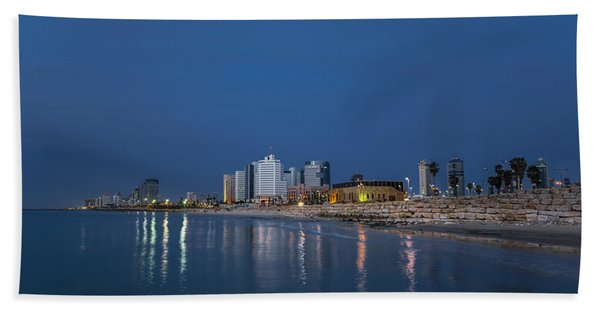 Tel Aviv The Blue Hour Beach Sheet