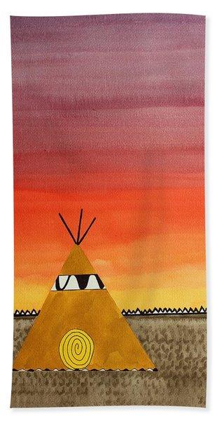 Tepee Or Not Tepee Original Painting Beach Towel