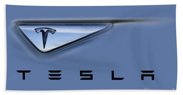 Tesla Artwork Beach Towel