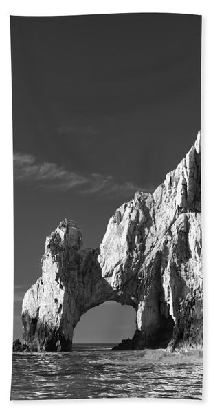 The Arch In Black And White Beach Towel