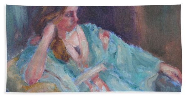 Inner Light - Original Impressionist Painting Beach Sheet