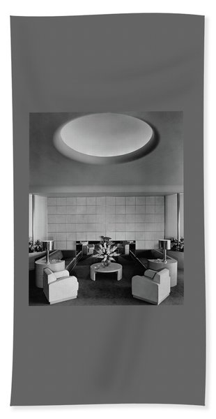 The Executive Lounge At The Ford Exposition Beach Towel