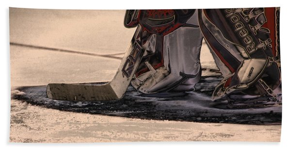 The Goalies Crease Beach Towel
