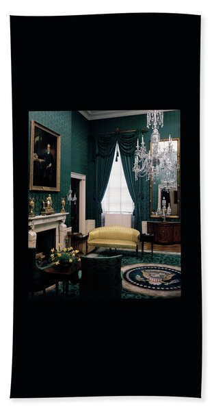 The Green Room In The White House Beach Towel