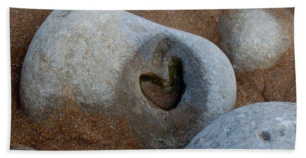 The Heart Of Omaha Beach Beach Towel