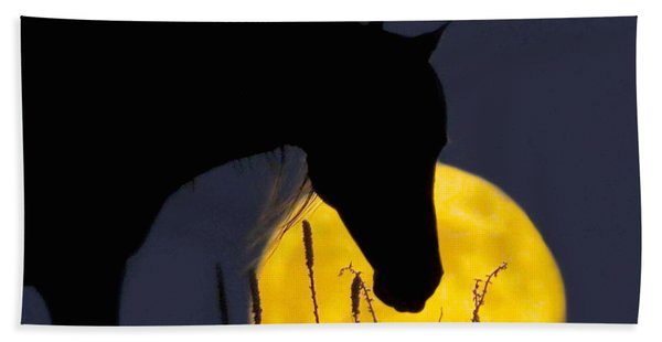 The Horse In The Moon Beach Towel