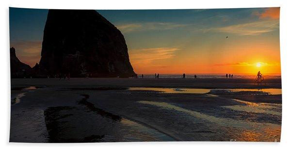 The Lone Biker Beach Towel