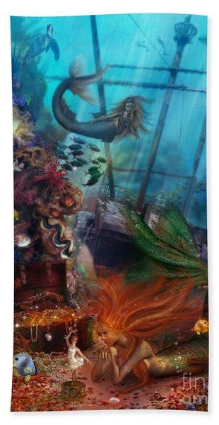 The Mermaids Treasure Beach Towel