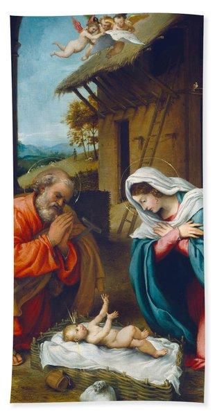 The Nativity 1523 Beach Towel