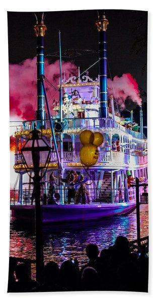 The Mark Twain Disneyland Steamboat  Beach Towel