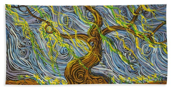The Tree Have Eyes Beach Towel