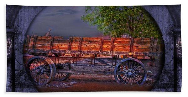 Beach Towel featuring the photograph The Wagon by Gunter Nezhoda