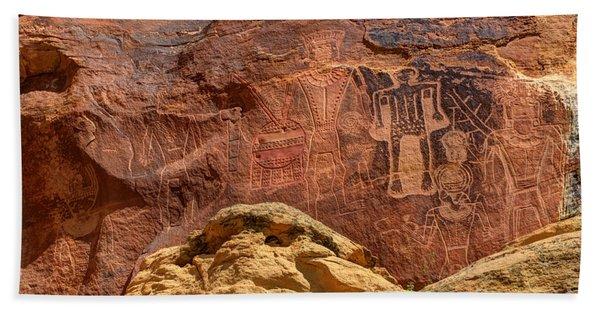 Three Kings Petroglyph - Mcconkie Ranch - Utah Beach Towel