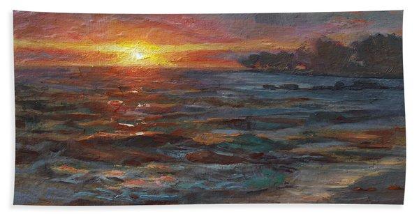 Through The Vog - Hawaii Beach Sunset Beach Towel