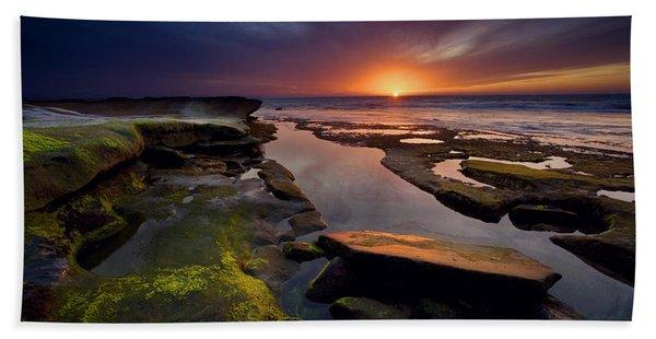 Tidepool Sunsets Beach Towel