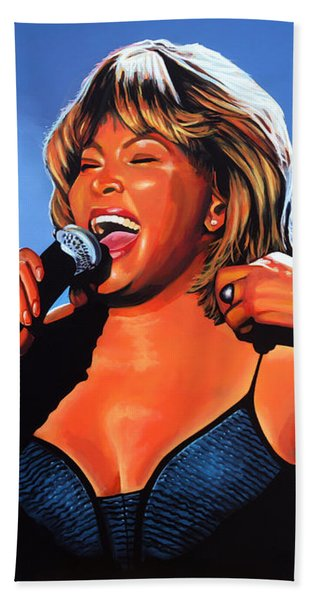 Tina Turner Queen Of Rock Beach Towel