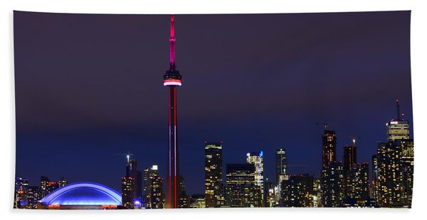Toronto Skyline Beach Towel