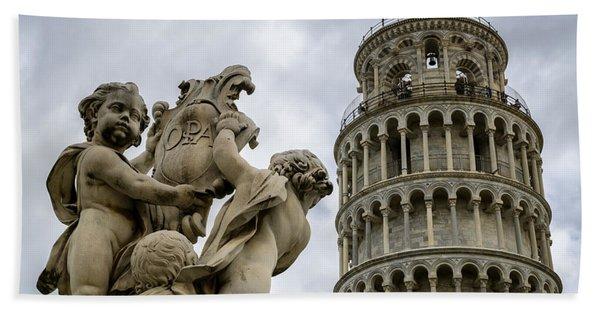 Tower Of Pisa Beach Towel