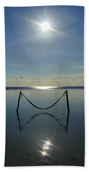 Beach Towel featuring the photograph Tres Luces by Skip Hunt