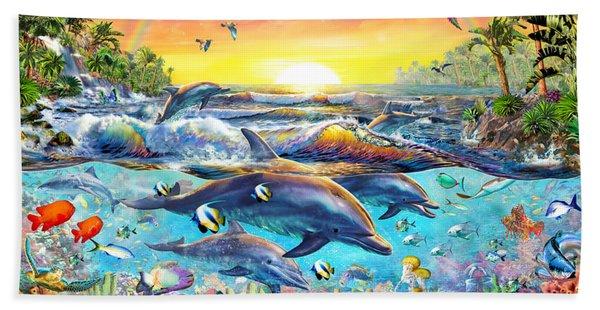 Tropical Cove Beach Towel