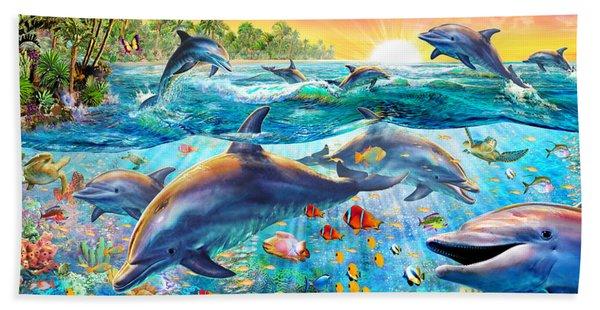 Tropical Dolphins Beach Towel