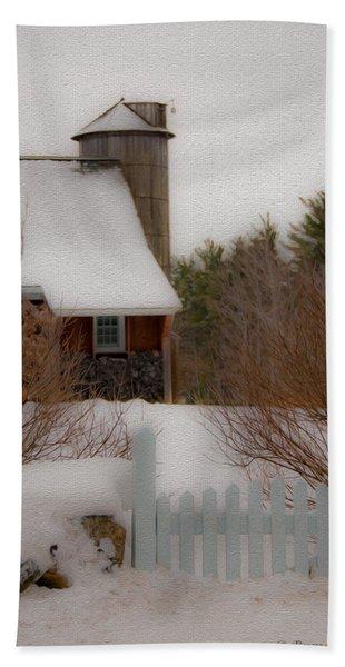 Tuftonboro Farm In Snow Beach Towel